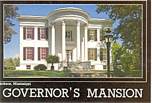 Governor's Mansion Jackson Mississippi Pcard (Image1)