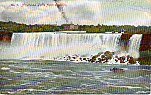 American Falls from Canada Postcard p27717 (Image1)