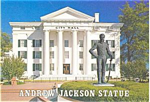 Andrew Jackson Statue Jackson MS Postcard p2773 (Image1)