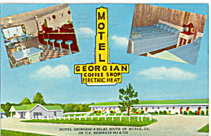 Motel Georgian McRae Georgia Postcard p27775 (Image1)