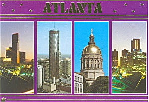 Atlanta Georgia Postcard (Image1)