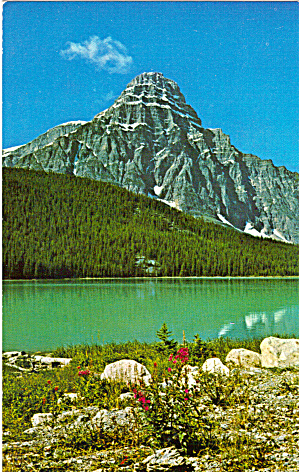 Mt Chephren And Waterfowl Lake Banff National Park Canada P27837