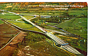 Pa Turnpike Valley Forge Interchange Postcard P27866