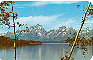 Grand Teton and range from Jackson Lake (Image1)