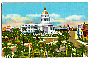 Fraternity Square And Capitol, Havana, Cuba
