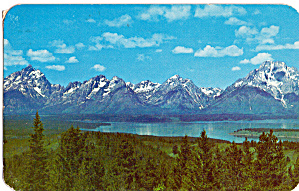 Teton Range and Jackson Lake From Signal Mountain (Image1)