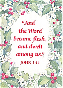 Christmas Message From John 1:14 Postcard (Image1)
