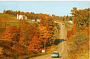 Autumn Scenery and Farm Lands Postcard p28013 (Image1)