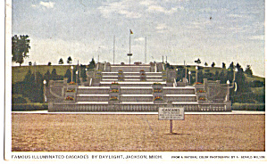 Illuminated Cascadeds by Daylight, Jackson, Michigan (Image1)