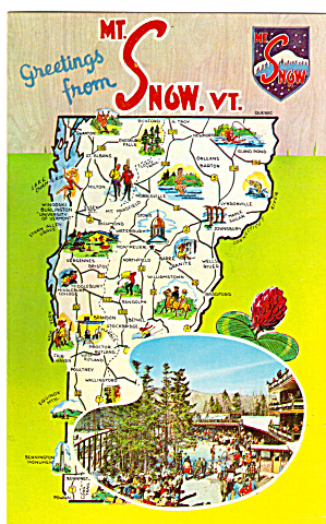 Map of Vermont Postcard p28053 (Image1)