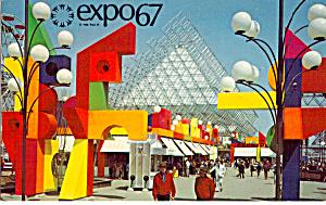 La Ronde Amusement Area Expo 67 Postcard p28082 (Image1)