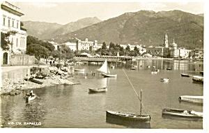 Rapallo Italy Real Photo Postcard (Image1)