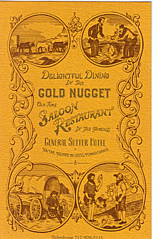 Gold Nugget Saloon Restaurant General Sutter Hotel PA p28117 (Image1)
