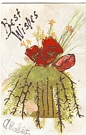 Bouquet Best Wishes Card Glitter (Image1)