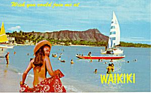 Wakiki Beach and Diamond Head Hawaii p28159 (Image1)
