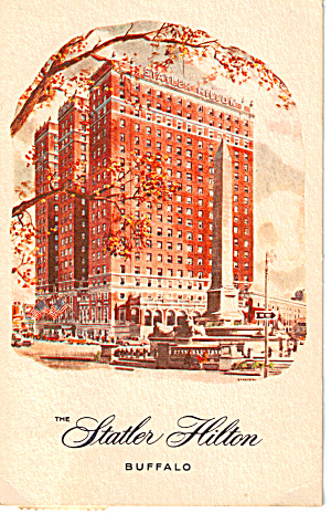The Statler Hilton Buffalo New York Postcard p28167 (Image1)
