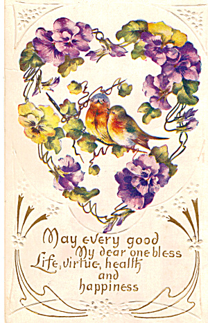 Best Wishes Postcard p28175 (Image1)
