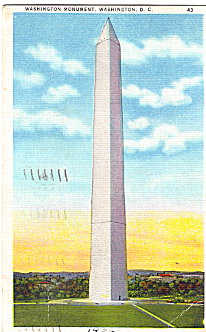Washington Monument Postcard 1936 (Image1)