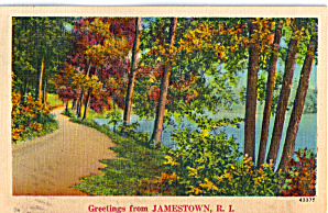 Greetings From Jamestown Rhode Island P28198