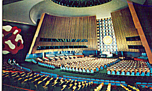 General Assembly Hall United Nations New York City Ny P28209