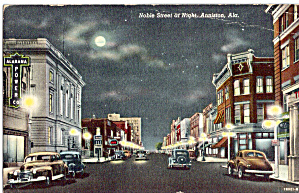 Noble Street at Night,Anniston,Alabama Cars 40s (Image1)