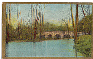 Stone Bridge On Dry Goods Advertising Postcard P28214