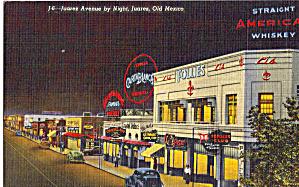 Juarez Avenue by Night Juarez Mexico Cars 30s p28222 (Image1)
