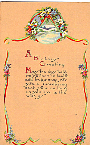 A Birthday Greeting with a Snow Scene p28228 (Image1)