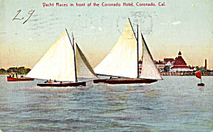 Yacht Races in Front of Coronado Hotel California p28259 (Image1)
