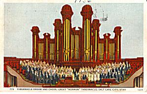 Tabernacle Interior and Choir Salt Lake City UT p28279 (Image1)