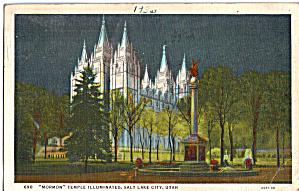 Mormon Temple Iluuminated  Salt Lake City  Utah p28308 (Image1)