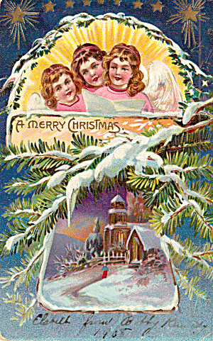 Christmas Postcard Series,raphael Tuck Postcard 1908