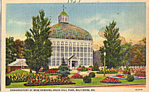 Conservatory At Rose Garden Druid Hill Park Baltimore Md P28322