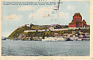 La Chateau Frontenac Et La Citadelle From The Ferry P28325