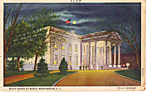 North Front White House at Night (Image1)