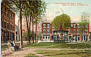 Post Office,Hotel,Public Square Bradford, Pennsylvania (Image1)