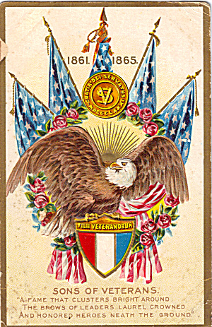 Sons of Veterans Decoration Day Postcard p28360 1918 (Image1)