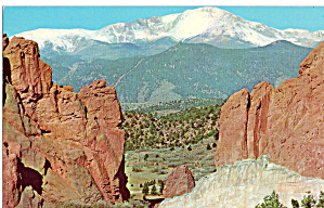 Pikes Peak From Garden of the Gods, Colorado (Image1)