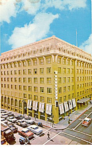 Bellevue Hotel, San Francisco, California, Cars 50s (Image1)