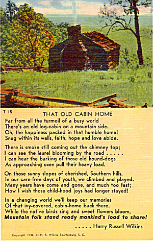 Words to That Old Cabin Home (Image1)