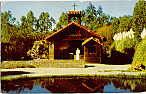 The Little Chapel by the Lake Knotts Postcard p28427 (Image1)
