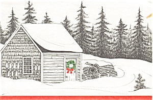 Lobster Traps in the Snow Postcard (Image1)