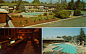 Manor Inn Ukiah California Postcard p28460 (Image1)