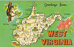State Map Of West Virginia P28506