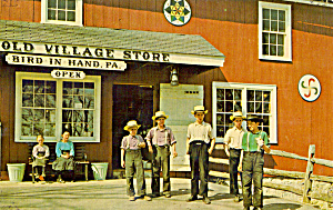 Amish Boys At Old Village Store, Bird In Hand P28556