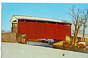 Landis Mill Covered Bridge Lancaster Pa Postcard P28575