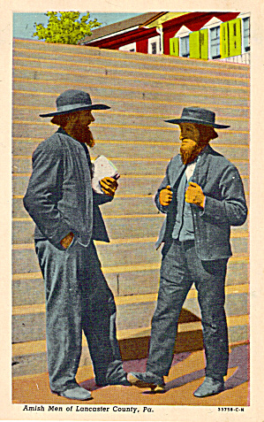 Amish Men Of Lancaster County Ostcard P28636