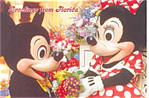 Mickey and Minnie Postcard p2865 (Image1)