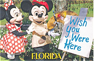 Mickey and Minnie Mouse Postcard p2866 (Image1)