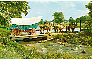 Conestoga Wagon With Hitch Of Six Belgian Horses P28705